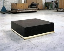 Didier Vermeiren A Block of Stone of 80 x 80 x 20 cm, on a Block of Polyurethane of 80 x 80 x 20 cm 1985