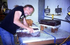 Doug Johns preparing Sans II mock-up
