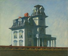 Edward Hopper's painting House by the Railroad, 1925.