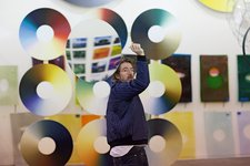 Olafur Eliasson in his studio, 2014