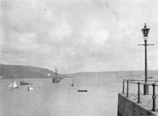 Photograph taken at Falmouth from the fish quay looking towards St Mawes