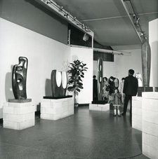 Installation view of Barbara Hepworth, Tate Gallery, 1968, Tate Archive
