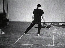 Bruce Nauman, Dance or Exercise on the Perimeter of a Square (Square Dance) 1967–8 (film still)