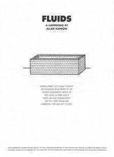 Allan Kaprow, Poster for Fluids 1967