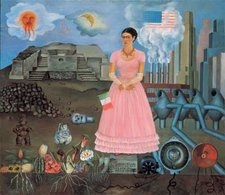 Frida Kahlo Self-Portrait on the Borderline Between Mexico and the United States