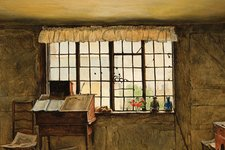 Henry Wallis Detail The Room in Which Shakespeare Was Born 1853
