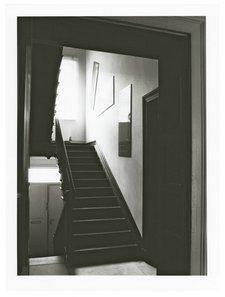 Installation view of Thomas Schutte Three Plates Green at Gerhard Richter house