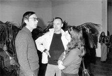 Jacques Charlier Konrad Fischer, Benjamin Buchloh and Anny de Decker at the Palais des Beaux-Arts, Brussels 1975