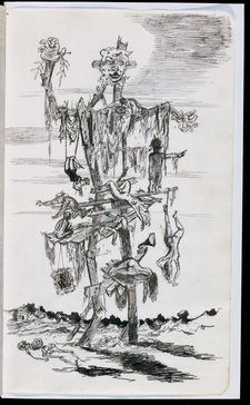 A page from James Boswell's Iraq sketchbook 1943–4 one