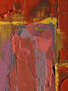 John Hoyland Saracen 1977 detail Acrylic emulsion on canvas Taken in raking light from the right