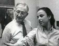 Josef Albers and Eva Hesse, Yale University, c.1958