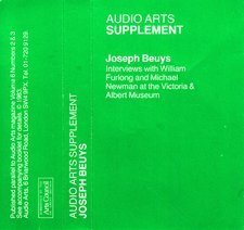 Audio Arts supplement Joseph Beuys V and A cassette inlay