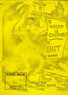 Front cover of a King Mob anti culture publication
