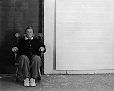 Agnes Martin in her studio in New Mexico, 1992, photographed by Charles Rushton