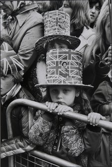 Martine Franck Parliament Square: Princess Anne's wedding - waiting for her to pass by 1973
