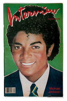 Michael Jackson on the front cover of Interview magazine in October 1982