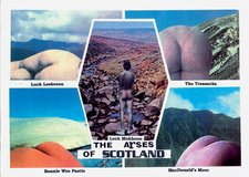 Michael Leigh The Arses of Scotland from his Beautiful Britain series, sent to the Robin Crozier Mail Art Archive, Tate Britain, in 2002