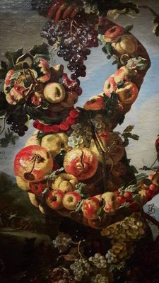 One of Giovanni Paolo Castelli's anthropomorphic still-life paintings of the seasons. Colnaghi