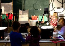 Children participate in the Early Years and Family Open Studio program, Tate, 2014