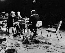 Shigeko Kubota Marcel Duchamp Teeny Duchamp and John Cage playing chess