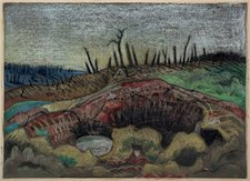 Paul Nash, A Farm, Wytschaete, 1917