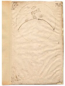 Thomas Harriot's drawing of the moon dated 26 July 1609