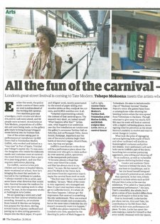 Tshepo Mokoena, 'All the fun of the carnival – with added turbine power', Guardian, 21 April 2014