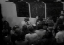 Footage of Joseph Beuys performing Information Action at Tate and the Whitechapel Gallery in 1972