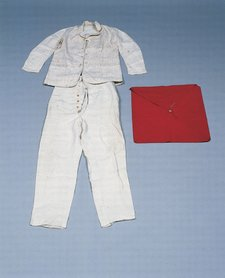 Walter Sickerts bag and overalls used in Dieppe and Envermeu France circa 1912