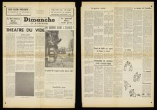 'Dimanche', Klein's fake newspaper, 27 November 1960, Tate Archive TG 92/268/1