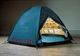 Tracey Emin Everyone I Have Ever Slept With, 1963–95 1995 Appliqued tent, mattress and light 122 x 245 x 215 cm