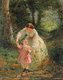 George Elgar Hicks Sketch for Woman's Mission: Guide of Childhood 1862–3