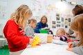 Children at a workshop at Tate St Ives