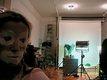 Cindy Sherman Sherman in clown face in her studio_01