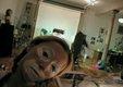 Cindy Sherman Sherman in clown face in her studio_03