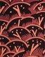 Paul Nash's Cherry Orchard textile design, block-printed crêpe de Chine in three colourways for Cresta Silks, 1930