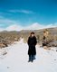 Andrea Zittel surveying the desert near A-Z West