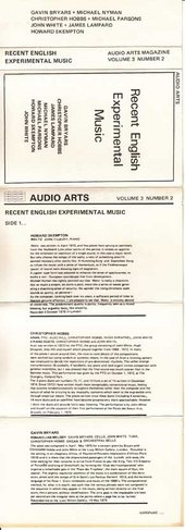 Audio Arts: Volume 3 No 2