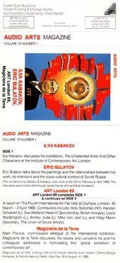 Audio Arts: Volume 10 No 1