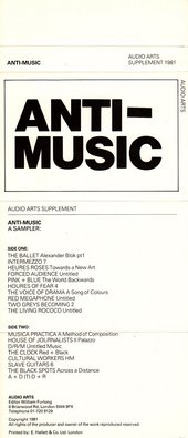 Audio Arts: Anti Music