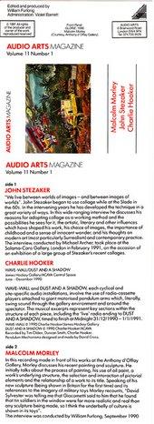 Audio Arts: Volume 11 No 1