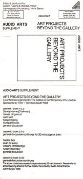Audio Arts: Art Projects Beyond the Gallery