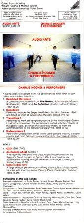 Audio Arts: Charlie Hooker & Performers