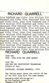 Audio Arts: Richard Quarrell