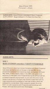 Audio Arts: Bijou O'Connor remembers F. Scott Fitzgerald