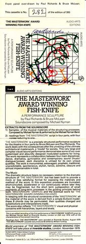 Audio Arts: Bruce McLean and Paul Richards, The Masterwork Award Winning Fishknife