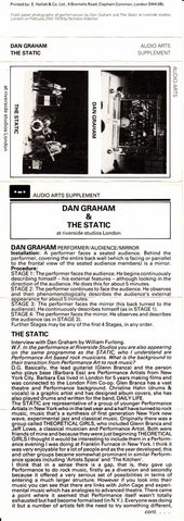 Audio Arts: Dan Graham & The Static
