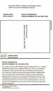 Audio Arts: David Troostwyk