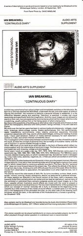 Audio Arts: Ian Breakwell, Continuous Diary