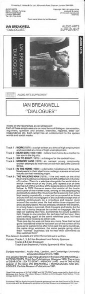 Audio Arts: Ian Breakwell, Dialogues